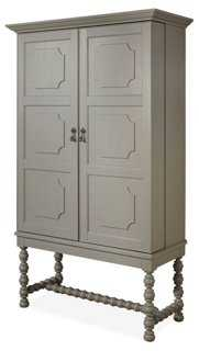 "Spruce 70"" Bar Cabinet, Gray - One Kings Lane"