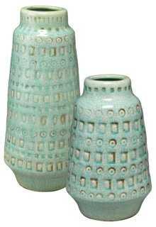 Asst. of 2 Coco Vases, Ocean - One Kings Lane