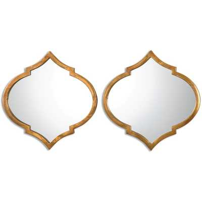 Uttermost Jebel Antique Gold Decorative Wall Mirrors (Set of 2) - Overstock