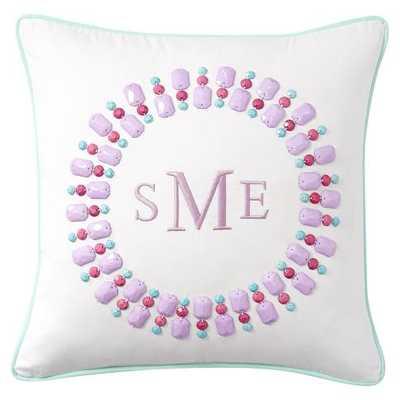 "Gem-Sational Monogram Pillow Covers- 16"" sq- Lavender- Insert sold separately. - Pottery Barn Teen"