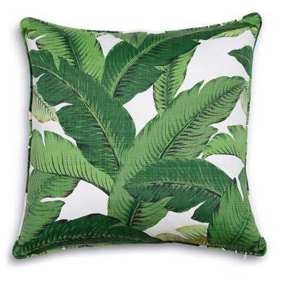 "Palm Beach Pillow, 20"" sq., Green - Furbish Studio"