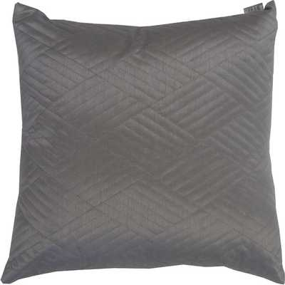 Urban Loft Quilted Solid Throw Pillow - Gray - 20sq. - Feather fill - AllModern