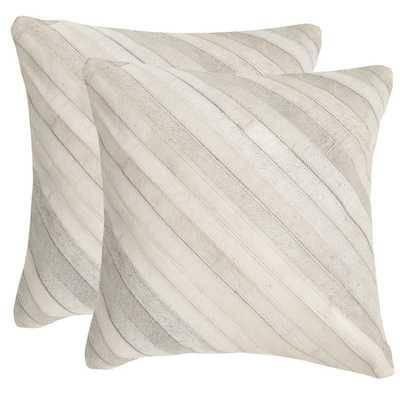 Safavieh Cherilyn WhiteThrow Pillows (Set of 2) - Overstock