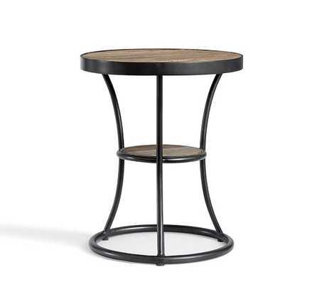 Bartlett Reclaimed Wood Metl Side Table - Pottery Barn