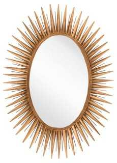 Oval Starburst Wall Mirror, Gold - One Kings Lane