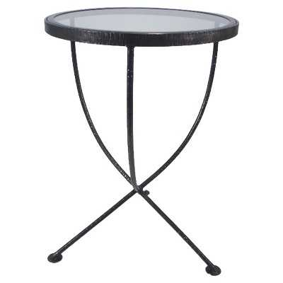 Round Metal and Glass Accent Table - Target