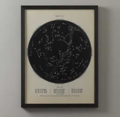 "night sky map-27"" x 33""-Framed - RH Baby & Child"
