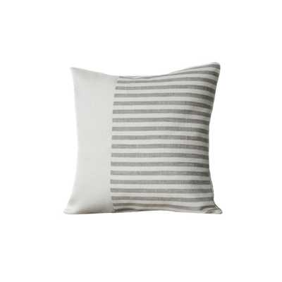 Linen Minimal Stripe Pillow - trnk-nyc.com