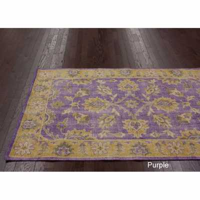 nuLOOM Hand-knotted Overdyed Wool Rug - Overstock