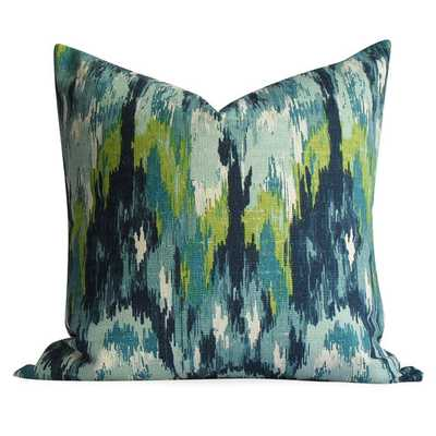 Ikat Pillow Cover in Teals - Same Fabric BOTH Sides - INVISIBLE Zipper - 20x20 & lumba - Etsy