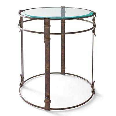 Metal Strap Side Table - Grandin Road