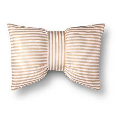 Xhilaration® Metallic Stripe Bow Decorative Pillow - Target