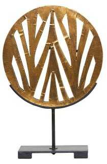 """18"""" Mod Abstract Sculpture, Gold - One Kings Lane"""