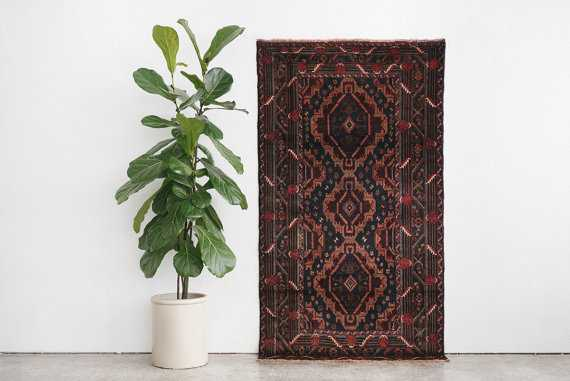 4x7 Hand Knotted Baluch Wool Rug - Etsy