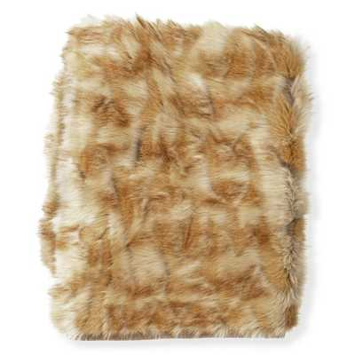"Faux Fur Throw, Amber Fox - 60"" X 80"" - Williams Sonoma Home"