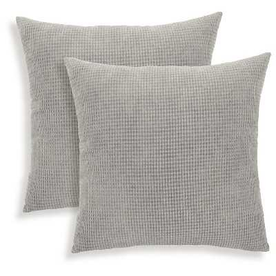 Essentials Tyler Textured Woven Throw Pillow- 18L x 18W- Charcoal heather- Recycled Polyester fill - Target