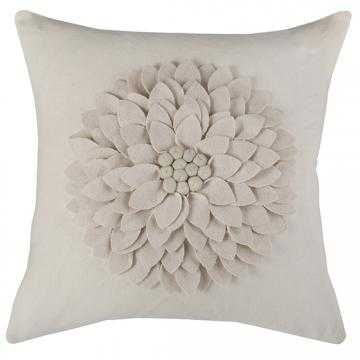 """Petals Pillow  - Ivory - 18"""" x 18"""" with Polyester insert - Home Decorators"""
