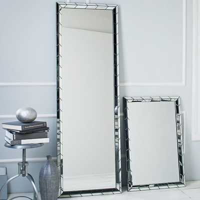 Chevron Tile Floor Mirror - West Elm