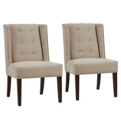 Madison Park Blakely Dining Chairs in Linen (Set of 2) - Bed Bath & Beyond