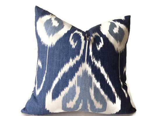 """Blue Pillows - 20"""" x 20""""-Blue- insert sold separately - Etsy"""