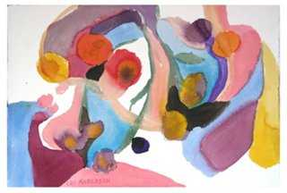 """Colorful Abstract by Les Anderson - 23"""" L x 1"""" W x 15"""" H - Unframed - One Kings Lane"""