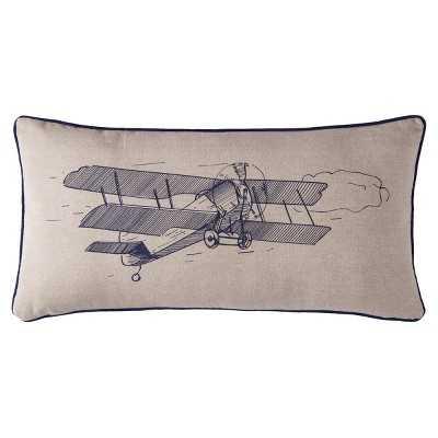 "Sheringham Road Aidan Screen Printed Plane Pillow - (12""x24"")-  Feather fill insert - Target"