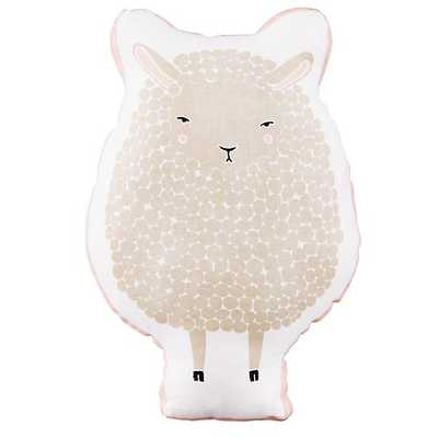 White Sheepish Filled Pillow - Land of Nod