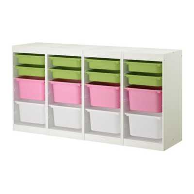 TROFAST Storage combination, white, multicolor - Ikea