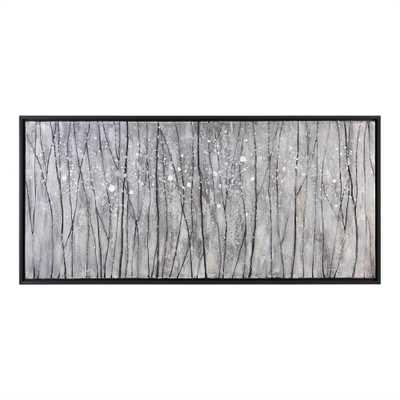 "Snowfall - 64"" x 30"" - Black frame - No mat - Hudsonhill Foundry"