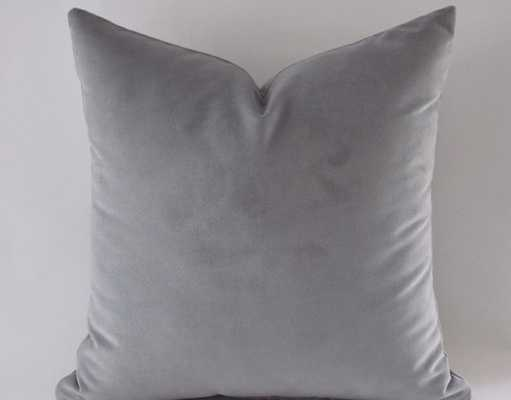 Gray Velvet Pillow Covers - Etsy