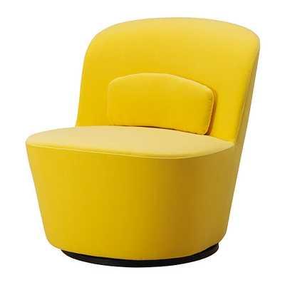 STOCKHOLM Swivel chair-Sandbacka yellow - Ikea