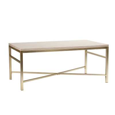 Upton Home Ogden Travertine Faux Stone Coffee/ Cocktail Table - Overstock