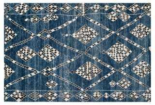 Maury Rug, Blue/Black - One Kings Lane