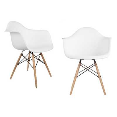Mid Century Modern Scandinavian Arm Chair - Set of 2 - AllModern