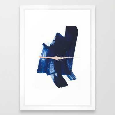 "Brush strokes 4 - 15""x21"" - Framed - Society6"