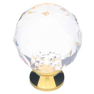 Design Facets 1-3/16 in. Crystal Cabinet Knob - Home Depot