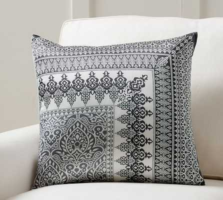 "Nori Scarf Print Pillow Cover - Grey - 20"" square - Insert sold separately - Pottery Barn"