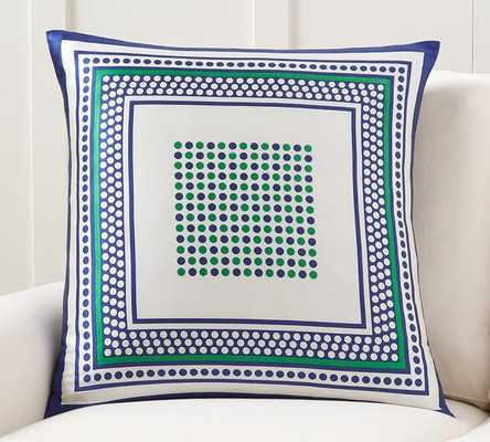 """DOTTIE SCARF PRINT PILLOW COVER - 24"""" x 24"""" - Insert sold separately - Pottery Barn"""