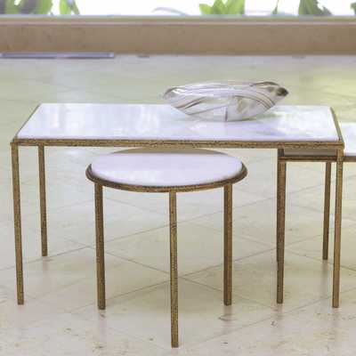 Global Views Furniture Hammered Gold Cocktail Table - Layla Grace