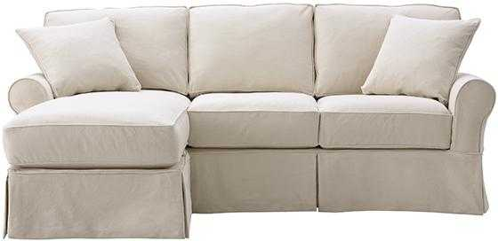 MAYFAIR SLIPCOVERED SOFA WITH CHAISE - Home Decorators