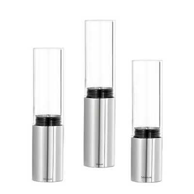 Faro 6 Piece Stainless Steel & Glass Hurricane Set - Clear Glass - AllModern