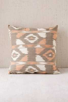 """Jamie Orange Ikat Pillow - 18"""" x 18""""-Insert included - Urban Outfitters"""