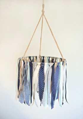 Baby Ribbon & fabric Mobile - Etsy