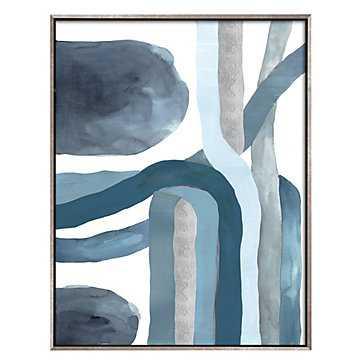 Blue Crossing 1 -40'75''x 52'75''-Framed - Z Gallerie