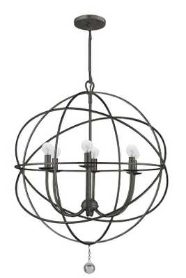 SOLARIS 6 LIGHT CHANDELIER - SMALL - English Bronze - Home Decorators