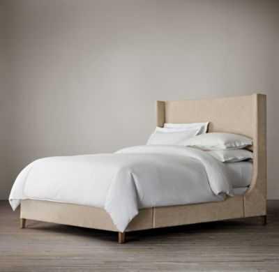 GRAYSON FABRIC SLEIGH BED - RH
