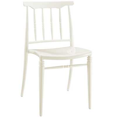 BRISK DINING SIDE CHAIR IN WHITE - Modway Furniture