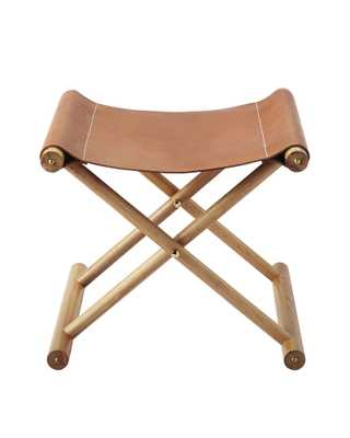 Cooper Leather Stool-Saddle - Serena and Lily