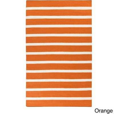 Melun Flatweave 100-percent Wool Striped Area Rug (5' x 8') - Overstock