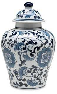 """10"""" Royal Ginger Jar, Blue/White - One Kings Lane"""